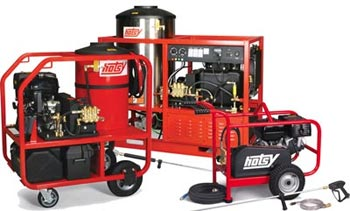 Commercial hot and cold water pressure washers